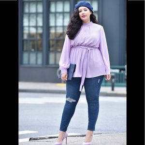 Lane Bryant x Girl With Curves Belted Tunic Blouse